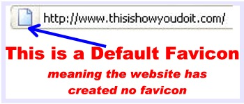 site without favicon