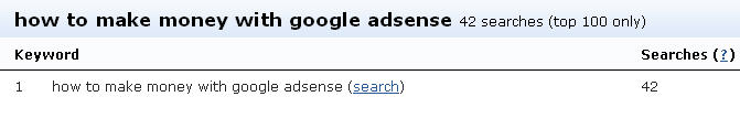 making money with adsense searches