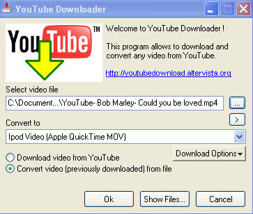 play a youtube video on iPod